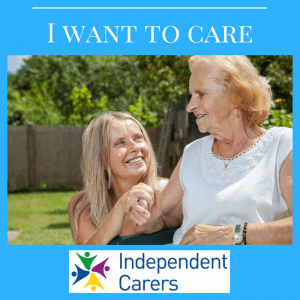 self employed care worker